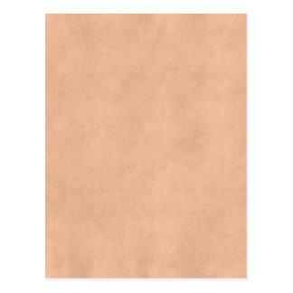 Vintages antikes Papier Wildleder-Pergament-TANs Postkarte