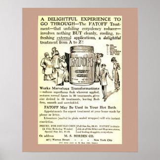 Vintages Anzeigen-Gewichtsverminderung 1913 Plakat