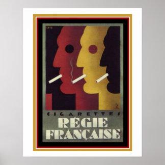 Vintages Anzeigen-Plakat für Regie Francaise Poster