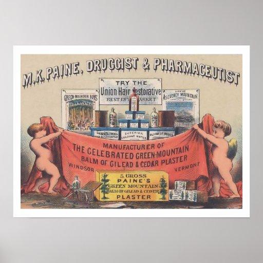 Vintages Apotheken-Plakat