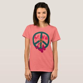 Vintages Artfriedens-und -Liebet-stück T-Shirt
