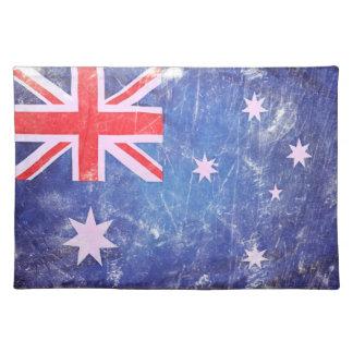Vintages australisches Flaggen-Tischset Tischset
