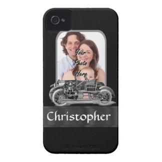 Vintages Auto auf Schwarzem Case-Mate iPhone 4 Hülle