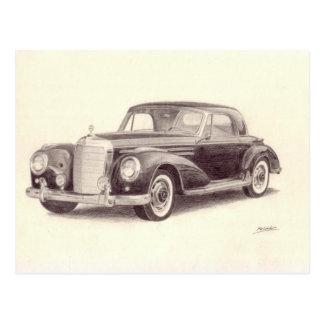 Vintages Auto: MERCEDES-BENZ 300S Postkarte
