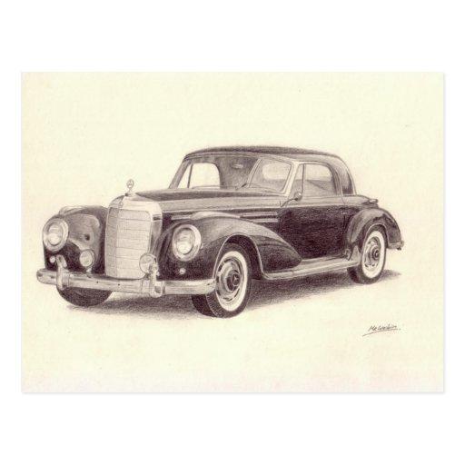 Vintages Auto: MERCEDES-BENZ 300S Postkarten