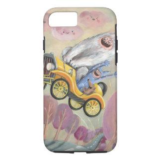 Vintages Auto mit Monstern iPhone 8/7 Hülle