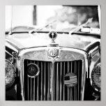 Vintages Auto-Plakat