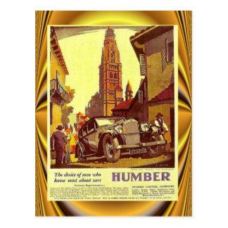 Vintages Autoplakat, Humber, britisches Auto Postkarte