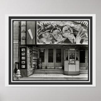 Vintages B&W Film-Theater-Plakat 16 x 20 Poster