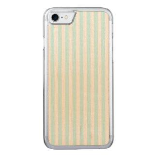 Vintages Baby-Blau-Pastellfarbstreifen-Muster Carved iPhone 8/7 Hülle