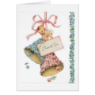 Vintages Baby danken Ihnen zu kardieren Grußkarte
