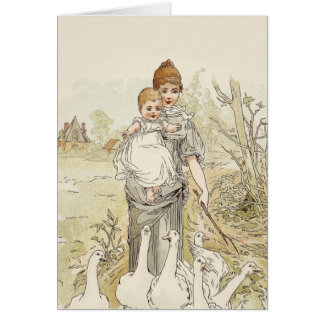Vintages Baby Grußkarte