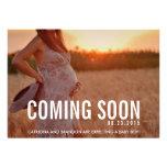 Vintages bald kommen Foto-Schwangerschafts-Mitteil