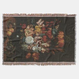 Vintages Barock, Blumennoch Leben-Blumen im Vase Decke