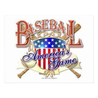Vintages Baseball USA-Schild Postkarte