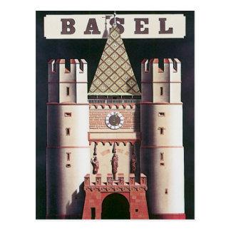 Vintages Basel die Schweiz Postkarte