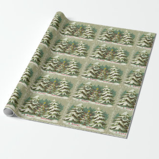 Vintages Baum-Weihnachten Geschenkpapier
