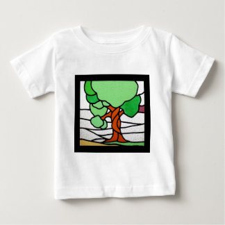 Vintages beflecktes Glas des Baum-| circa 1920 Baby T-shirt