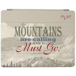 Vintages Berge Nennen; John Muir; Monogramm iPad Hülle