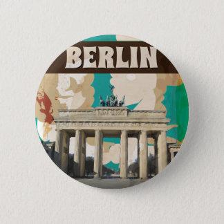 Vintages Berlin-Reise-Plakat Runder Button 5,7 Cm