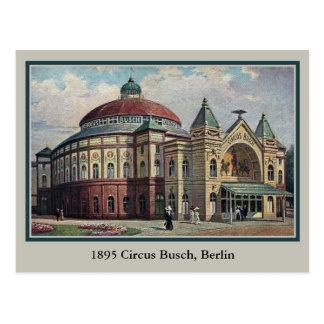 Vintages Berlin-Zirkus Busch Gebäude Postkarte