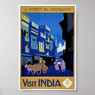 Vintages Besuchs-Indien-Reise-Klassiker-Plakat Poster