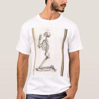 Vintages betendes Skelett T-Shirt