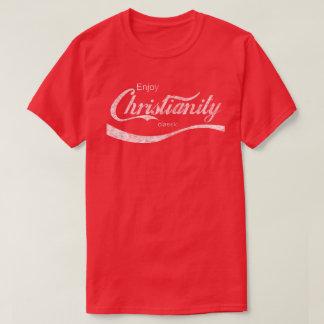 Vintages beunruhigt genießen Christentums-T - T-Shirt