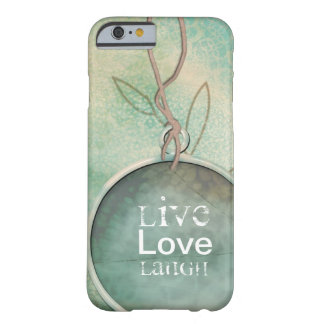 Vintages beunruhigtes Live, Liebe, Lachen Barely There iPhone 6 Hülle