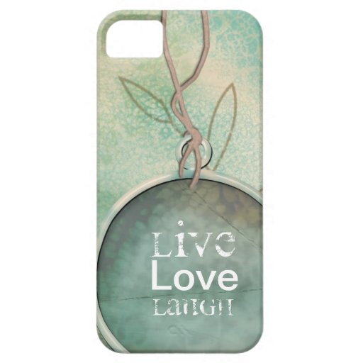 Vintages beunruhigtes Live, Liebe, Lachen iPhone 5 iPhone 5 Schutzhülle