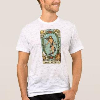 Vintages beunruhigtes Mode-Tarot-T-Stück: Die Welt T-Shirt