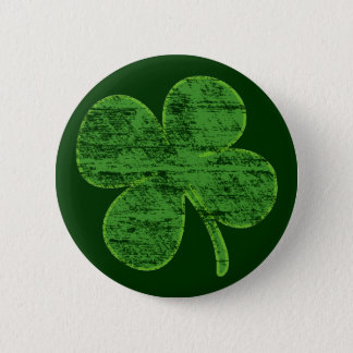 Vintages beunruhigtes vierblättriges Kleeblatt Runder Button 5,1 Cm