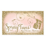Vintages bezauberndes TAN-GoldGlitter-Rosa des Visitenkarten Vorlagen