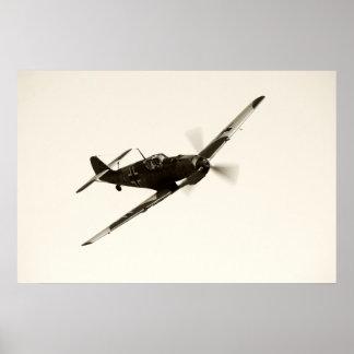 Vintages Bf-109 E-3 Emil Poster