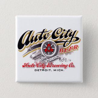Vintages Bier-Logo-Aufkleber-Auto-Stadt-Bier Quadratischer Button 5,1 Cm