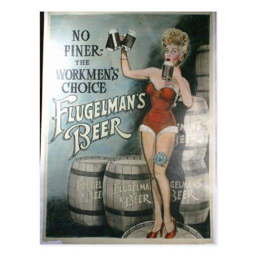 Vintages Bierplakat, nicht feiner der Arbeiter Postkarte