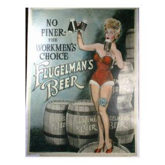 Vintages Bierplakat, nicht feiner der Arbeiter Postkarten