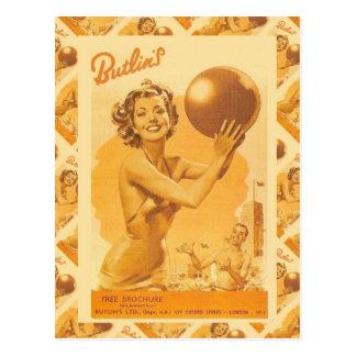 Vintages Bild, Butlins Feiertags-Lager Postkarten
