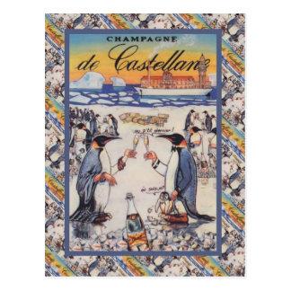 Vintages Bild, Champagne de Castellane Postkarte