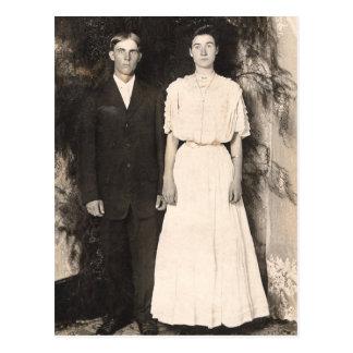 Vintages Bild eines Hochzeits-Paares Postkarten