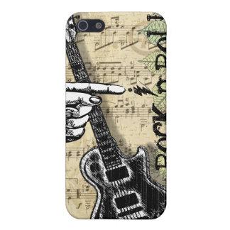 Vintages Blatt-Musik-Rock'n'Roll iPhone 5 Case