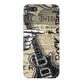 Vintages Blatt-Musik-Rock'n'Roll iPhone 5 Etuis