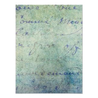 Vintages blaues französisches photodrucke