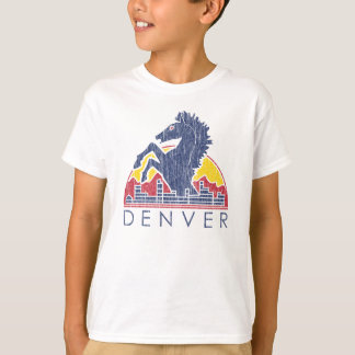 Vintages blaues Pferd Denver T-Shirt