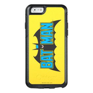 Vintages blaues Schwarz-Logo des Batman-| OtterBox iPhone 6/6s Hülle