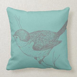 Vintages Blickkissen des hübschen Vogels Kissen