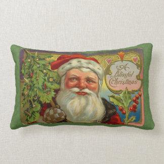 Vintages Blissful Weihnachten Sankt Kissen