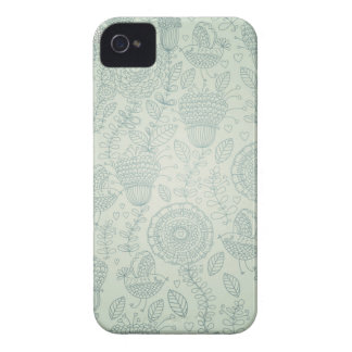 Vintages Blumen Case-Mate iPhone 4 Hülle