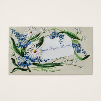 Vintages Blumen-, Gänseblümchen und Bluebells, Visitenkarte
