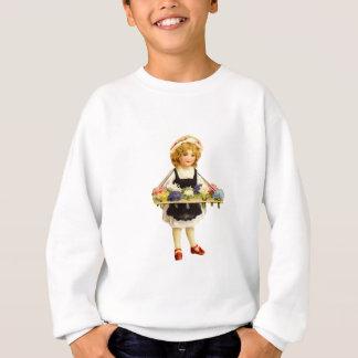 Vintages Blumen-Mädchen scherzt Sweatshirt